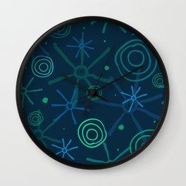 meteoric shower Wall Clock