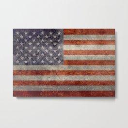 USA Flag Banner - Imagine this Metal Print