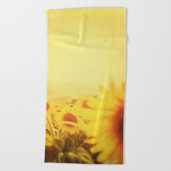 Delving in Yellow Beach Towel