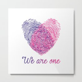 We are one - Valentine love Metal Print