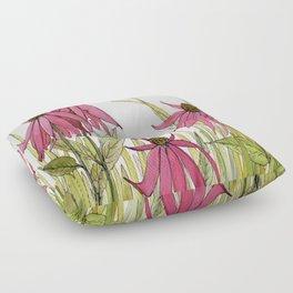 Pink Garden Flower Coneflower Floor Pillow