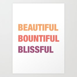 Daily mantra in coral orange 4 Art Print