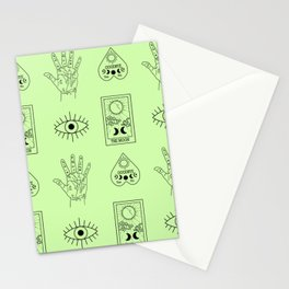 Tarot Planchette Palmistry Fortune Telling in Mint Stationery Cards