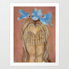little birds by Lilly Hibbs Art Print