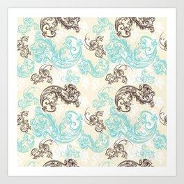 Baroque ornament. Classic design in luxury style Art Print