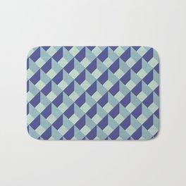 Blue Geometric Pattern Bath Mat