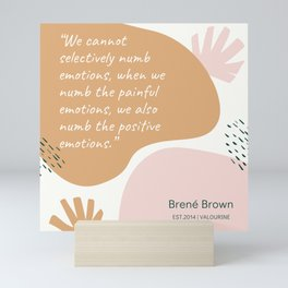 11   | Brene  Brown Quotes | 190821 Mini Art Print