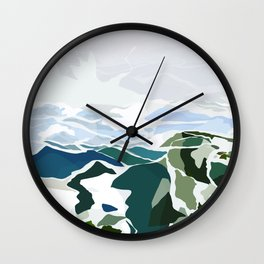 green mountains Wall Clock