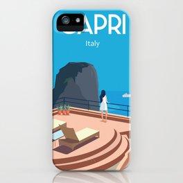 Capri travel poster iPhone Case