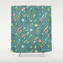 Microbes Shower Curtain