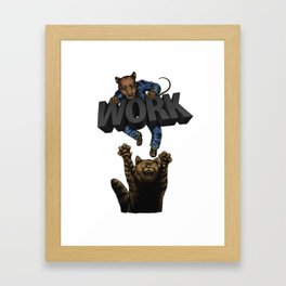 Hold On:Rat Race Framed Art Print