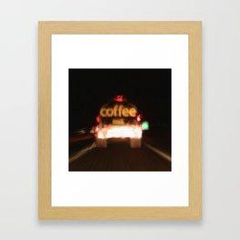 C - Coffee Tanker Framed Art Print