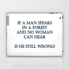 """""""Man Speaks In Forest"""" Joke in Bright Typography Laptop & iPad Skin"""