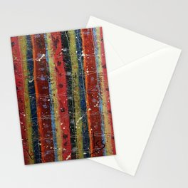 Hand painted stripes Stationery Cards