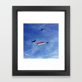 State Flag Flypast Framed Art Print