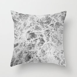 The Waves (Black and White) Throw Pillow