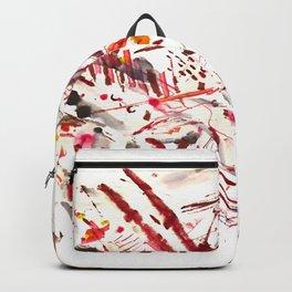Pain: powerful acrylic splashing piece Backpack
