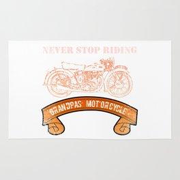 Motorcycle Grandpas  Vintage Design Motors Rug