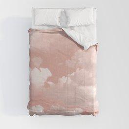 Clouds in a Peach Sky Comforters