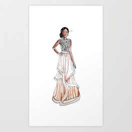 Prom Night (White Background) Art Print