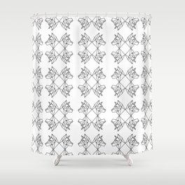 Geometric Shiba Inu Shower Curtain