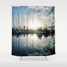 mirrored marina Shower Curtain