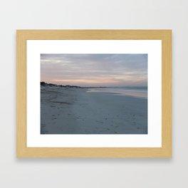 Endless Beach at Sunset  Framed Art Print