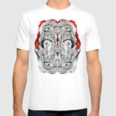 Red Mens Fitted Tee White MEDIUM