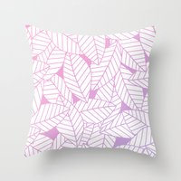 Leaves in Unicorn Throw Pillow