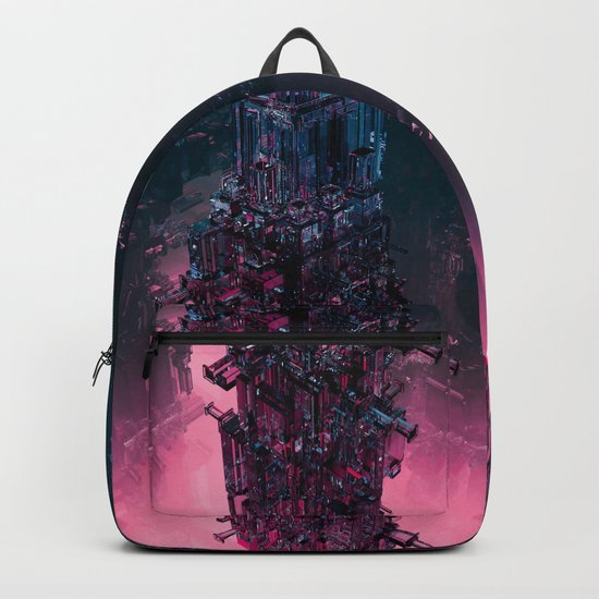 The Technocore / 3D render of futuristic structure Backpack
