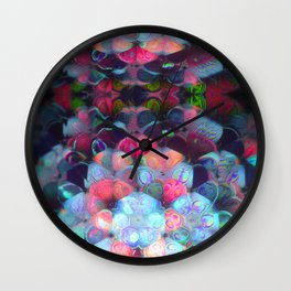 Graphic Atoms Wall Clock
