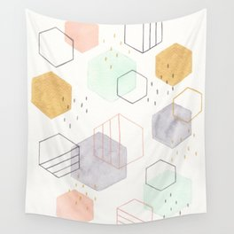 Hexagon Scatter Wall Tapestry