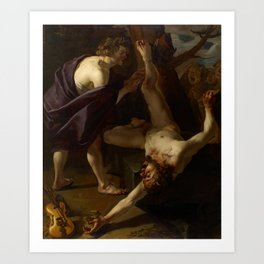 Dirck van Baburen - Apollo Flaying Marsyas Art Print
