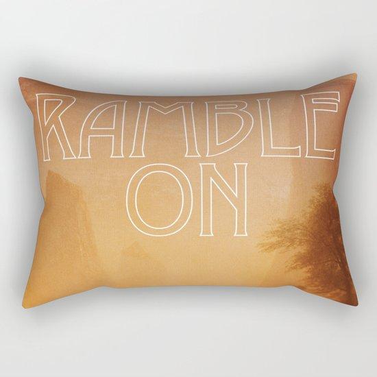 Ramble On Rectangular Pillow