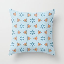 Speilberg triangle on faded blue Throw Pillow