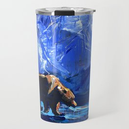 """Blue Bear"" Original, art, Bear Lover, bear art, bear painting, brown bear, nature, wildlife love... Travel Mug"