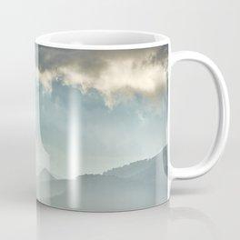 Sunrise at the misty mountains. Coffee Mug
