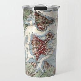 Vintage Map of Boston Harbor (1807) Travel Mug
