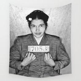 Rosa Parks Mugshot Wall Tapestry