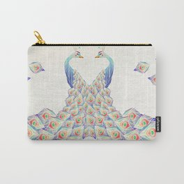 white peacock Carry-All Pouch