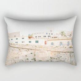 "Travel photography ""Entrance Eivissa Ibiza"" | Printable photo art Spain Rectangular Pillow"