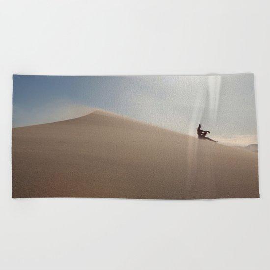 Sunset at Eureka Sand Dunes Beach Towel