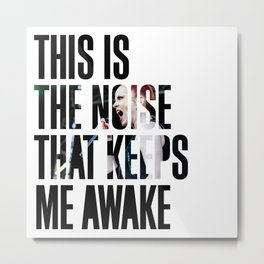 Garbage - 'Push It' lyrics Metal Print
