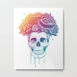 Color skull Metal Print