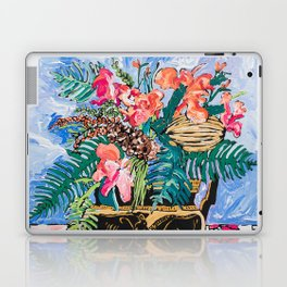 Tropical Banksia Bouquet after Matisse in Greek Boar Urn on Pale Painterly Blue Laptop & iPad Skin