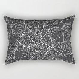 Birmingham Map, England - Gray Rectangular Pillow
