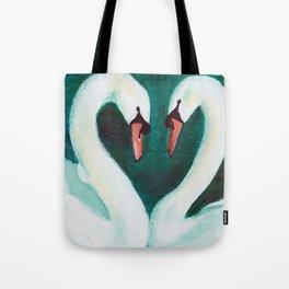 Swans Flirt Tote Bag