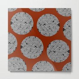 Leaf Dots (multiples) Metal Print