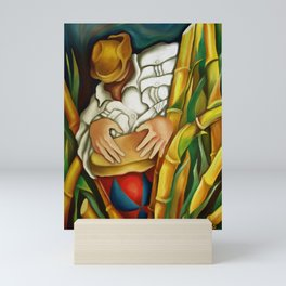 Rumba between sugar canes. Miguez art Mini Art Print