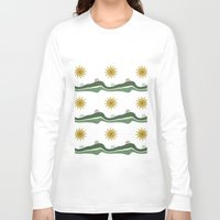 bikes Long Sleeve T-shirts featuring Bikes Pattern by Christina Rollo